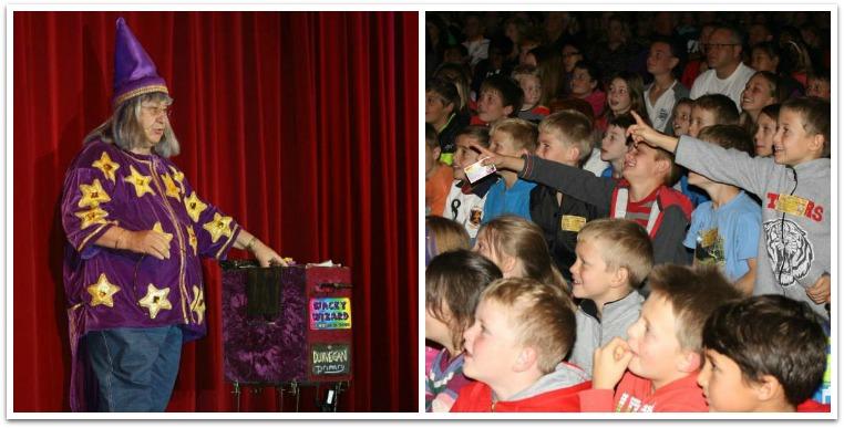 wacky kids stage magic show Collage